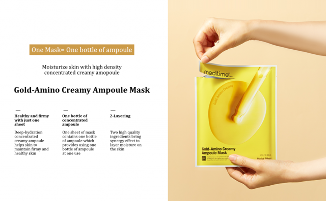 1 Gold-Amino Creamy Ampoule Mask = 27ml of ampoule