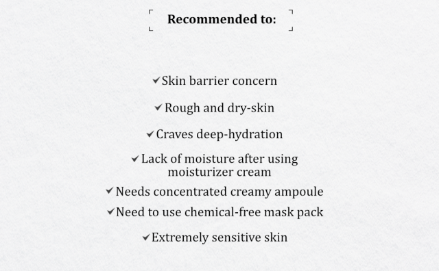 Recommended to Gold-Amino Creamy Ampoule Mask