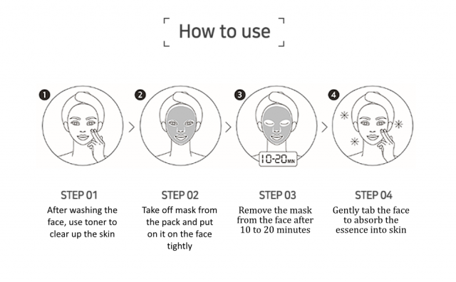 how to use Jeju Green Tangerine DEUMPPOOK Mask