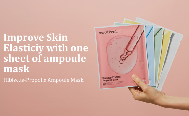 Improve skin Elasticity with Hibiscus-Propolis Ampoule Mask